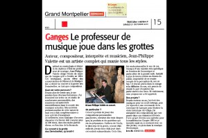 Article Interview Jean Philippe Valette journal Midi Libre 31102015 www.jpvmusique.com