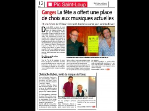 Journal Midi Libre Article EMAC 24 juin 2013